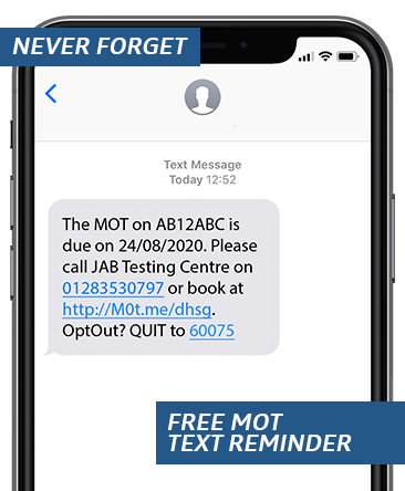 Free MOT Text Reminder
